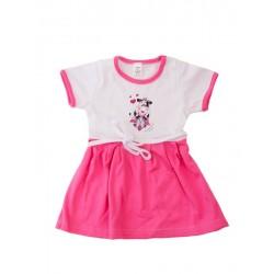 Letné šaty veľkosť 62 (Kravička) - ružové