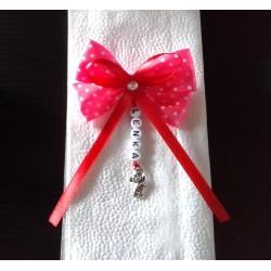 Mašlička na kočík, ruksak, autosedačku (ružová)