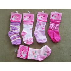 Detské ponožky veľkosť S / 9 až 18 mesiacov GIRL