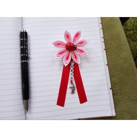 Kvet na kočík (bielo ružový) Lienka