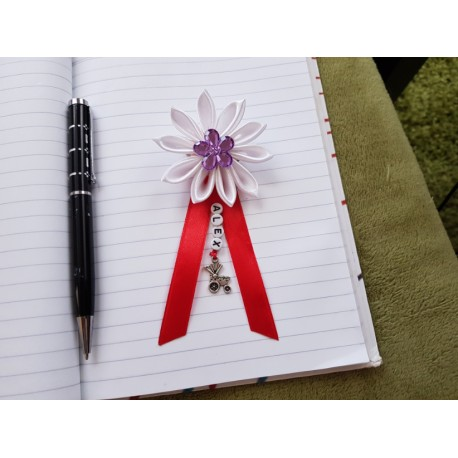 Kvet na kočík (biely) fialový kvietok