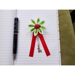Kvet na kočík (bielo zelený) Lienka červená