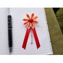 Kvet na kočík (bielo oranžový) Lienka červená