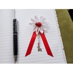 Kvet na kočík (biely) Lienka červená