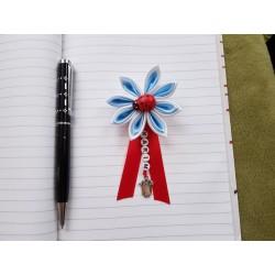 Kvet na kočík (bielo modrý) Lienka červená