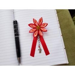Kvet na kočík (červeno lososový) žltý kvietok