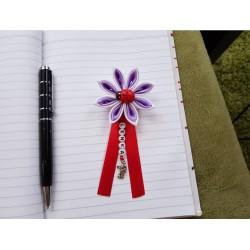 Kvet na kočík (bielo fialový) Lienka červená