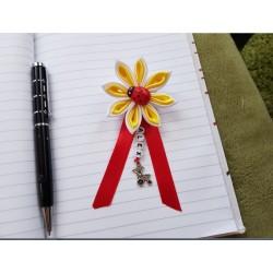 Kvet na kočík (bielo žltý) Lienka červená