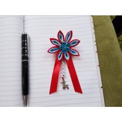 Kvet na kočík (červeno modrý) modrý kvietok