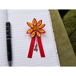 Kvet na kočík (červeno žltý) žltý kvietok