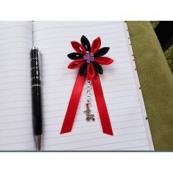 Kvet na kočík (červeno čierny) fialový kvietok