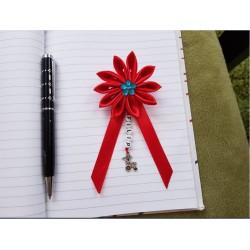 Kvet na kočík (červený) modrý kvietok