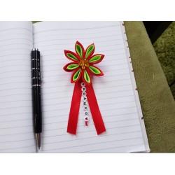 Kvet na kočík (červeno zelený) žltý kvietok