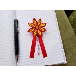 Kvet na kočík (červeno žltý) žltý kruh