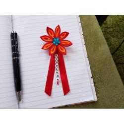 Kvet na kočík (červeno oranžový) modrý kvietok