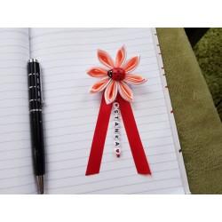 Kvet na kočík (bielo lososový) Lienka červená