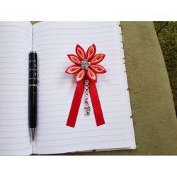 Kvet na kočík (červeno lososový) číry kvietok