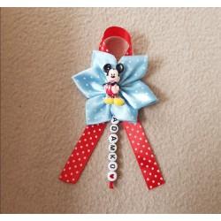 Kvet na kočík Mickey mouse - modrý bodka 2
