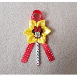 Kvet na kočík Mickey mouse - modrý bodka 3
