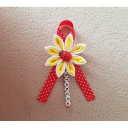 Kvet na kočík Minnie mouse - žltý bodka