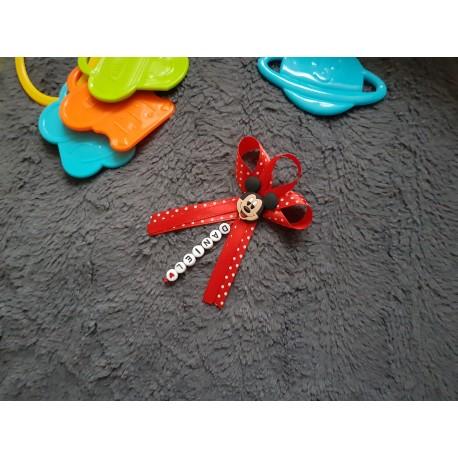 Červená mašlička na kočík Mickey mouse