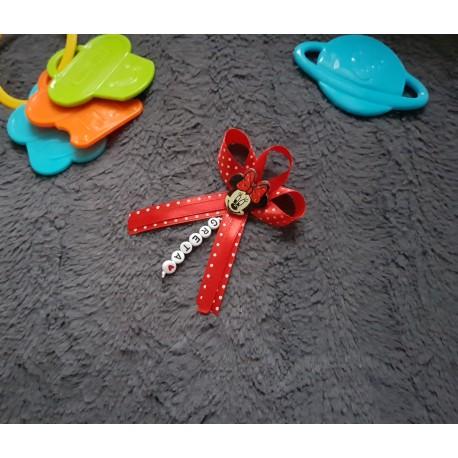 Červená mašlička na kočík Minnie mouse