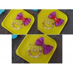 Brošňa ( mašlička ) na kočík - fialová 2