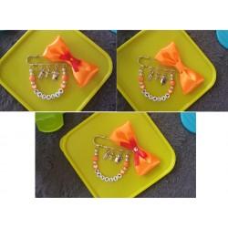 Brošňa ( mašlička ) na kočík - oranžová